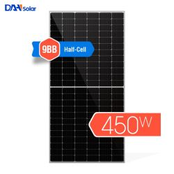 陽極酸化されたアルミ合金が付いているモノクリスタル太陽電池パネル400wpの太陽電池パネル