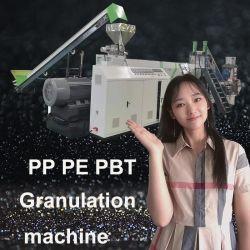 Los residuos de plástico de los consumidores/PE/PP/PET/tira botellas de HDPE /Films/Wovenbags Reciclaje Trituración granulación de peletización secado Lavado/Granulator/Línea de producción