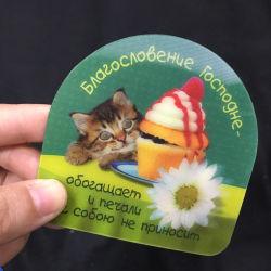 3D 렌즈 모양 플라스틱 카드 주문 인쇄 3D 포장 카드를 도매한다