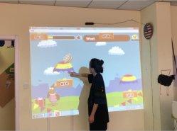 Multi-hand Touch Portable Interactive Whiteboard Interactive Projection vingerschrijfproces Smart Board voor Class en Interactive Floor / Wall Indoor Afspelen