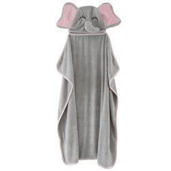 Graues Elefant-Kind-Badetuch-Tierentwurfs-Baby-mit Kapuze Bad-Tuch