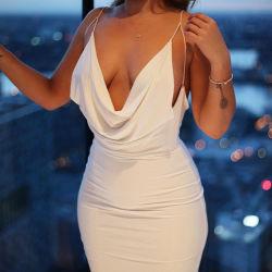 2021 섹시한 여름 저녁 슬립 프로 여성용 드레스와 함께 섹시한 클럽