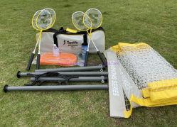 Jeu de raquette avec des raquettes de badminton/Volants/net/volley-ball/pompe pour le plaisir en famille