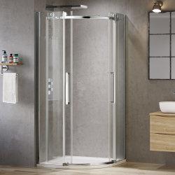 Semi Chuveiro Sauna Quarto de banho barato portas de vidro fosco