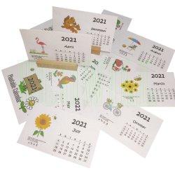 2021 Plantable 식물 씨 책상 달력