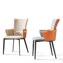 Роскошный хромированные ноги Домашняя мебель из натуральной кожи на кухне столовая подушки кресла