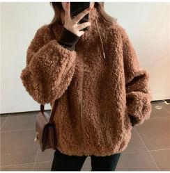 Новые Тедди нанесите на короткий и длинный стиле женщин' S Мишка куртка петличный реальных женщин Outwear шерсти овец мех