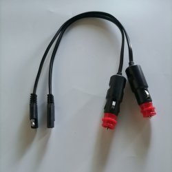 وصلة SAE لمهايئ الطاقة من النوع FT1 SPT-2 بجهد 12 فولت إلى 24 فولت كابل السيارة كابل قداعة السجائر