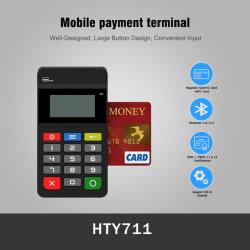 Alimentados por bateria Smart Bluetooth NFC Leitor de cartão móvel magnético com teclado (HTY711)