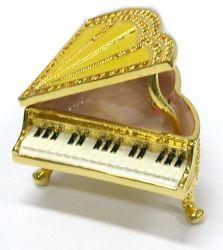 Scatola di gioielli per la musica natalizia (a forma di piano)