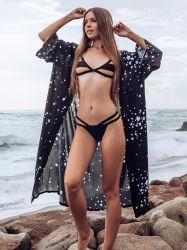 Agregar la etiqueta de venta al por mayor de la fábrica de las mujeres de moda vestidos de playa Kaftan encubrir trajes de baño
