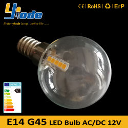 明滅の地球は12V 1W E14 G45 LEDランプをつけない