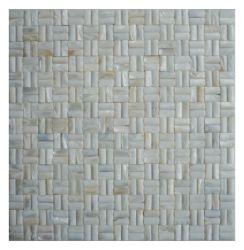 طبيعية MOP Freshwater Mother of Peal Shell Mosaic Tile Backsplas