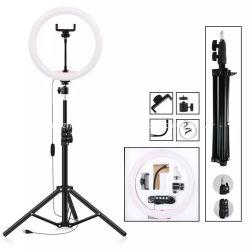 """10 """" 원격 제어 &Cellphone 홀더를 가진 살아있는 흐르는 Selfie 아름다움 사진기 LED 원형 반지 빛"""