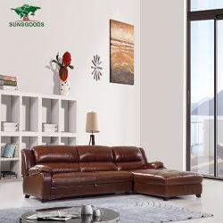 Svago moderno L sofà di legno d'angolo sezionale della mobilia del blocco per grafici di figura