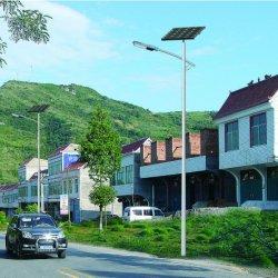 Alto brilho de uma grade de células solares 6m por imersão a quente Pole 30W Solar Luz de Rua