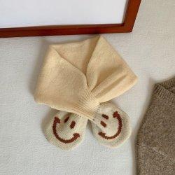 فصل خريف/شتاء صافية لون ابتسام علامة تجاريّة وشاح [ووولّن] دافئ