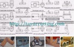 Máquina de corte de intersecção do tubo, cortador de tubo