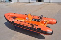 China 4.7m de Stijve Opblaasbare Boot van de Redding van de Rivier van de Motor van de Visserij/van de Rib
