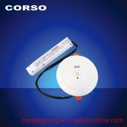 建物、モール、引込められたインストール、InoodrのためのセリウムEMC LVD RoHS ISO9001との3W LED緊急のDownlightはランプを使用した