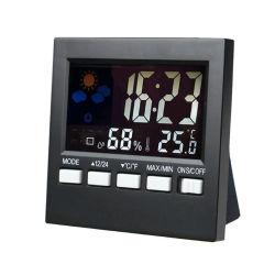 Écran couleur de la station météorologique Thermomètre réveil électronique HTC-1