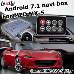 Lsilt Android GPS Navigation System Box لـ Mazda Mx-5 FIAT 124 Spider Mzd Connect Video Interface buck Control Waze
