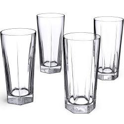 水カクテルのための無鉛透明なガラス飲むコップ