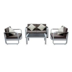 Современный дизайн порошок опрыскивание алюминиевых садовая мебель для использования вне помещений диван,