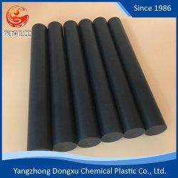 Barra rotonda nera riempita diossido Rod del silicone PTFE PTFE della grafite della fibra del carbonio