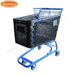 Carro de plástico personalizada para Centro Comercial, Tranvía de compras de supermercado