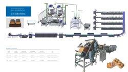 A linha de produção de doces roxo, nogado, tênis, Candy Bar a máquina