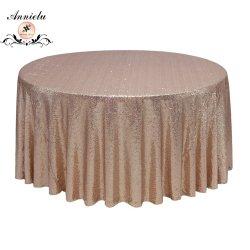 Capot table Annielu or rose brodée de Sequin nappe de mariage