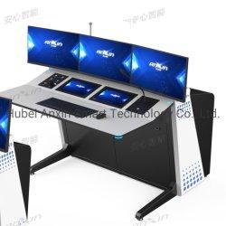 古典的な白くおよび黒い主題のスマートな統合されたコントロール・パネルの表か机