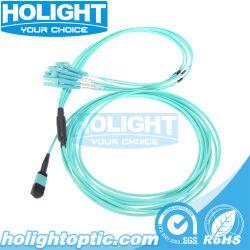 패치 케이블 MPO LC 8X2.0mm 이더네트를 위한 Om3 섬유