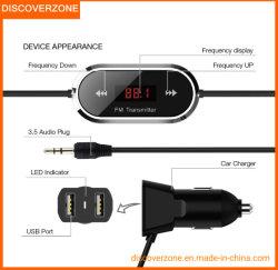 3.5mmの携帯電話FMの送信機、人間の特徴をもつ携帯電話の充電器、車のハンズフリーに呼出すこと