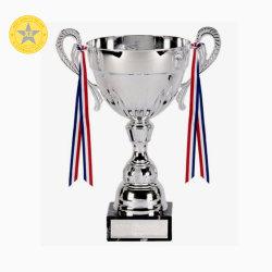 Liga de Campeones de alta calidad personalizado de metal plateado Deporte/Trofeo Copa del Mundo