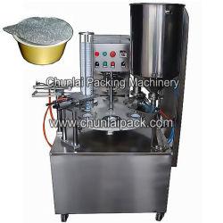 Automatischer Drehmultifunktionstyp Apfelmus-Joghurt-Cup/Dosen, die Dichtungs-Maschinerie/Abdichtmasse füllen