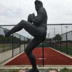 숫자 동상 야구 선수 조각품이 큰 크기 금속 기술에 의하여