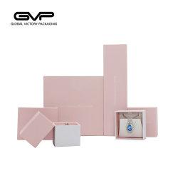 Caixa de embalagem impresso com invólucro de plástico branco e rosa Art revestimento de papel