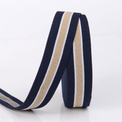 Cintura elastica in tessuto a righe ad alta elasticità