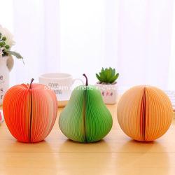 Frutas Álbuns nota Memo Pads Portable Arranhar Blocos de papel Post bricolage pegajoso Apple autocolantes de conveniência de formato de pêra