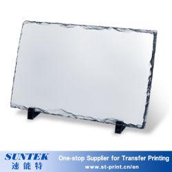 DIY revestido de impressão por transferência térmica de sublimação de ardósia Rocha Fotografia em branco