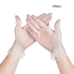 S/M/L Segurança Tamanho de luvas de nitrilo descartáveis luvas de látex de borracha de protecção
