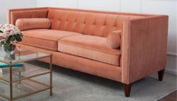 Europa-Typ Ausgangsmöbel-handgemachtes Gewebe-Sofa