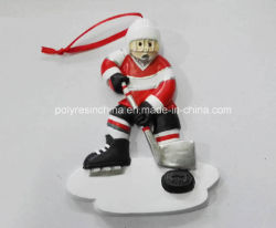 Het Polyresin Gepersonaliseerde Ornament van Kerstmis voor de Sport van de Bal van het Ijs