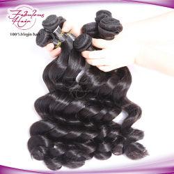 100% de la Virgen de la onda de Malasia el pelo suelto de tejido de trama
