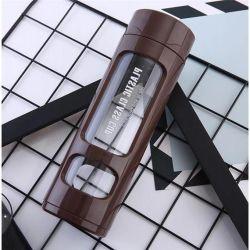 Arbeitsweg Drinkware beweglicher doppel-wandiger Glastee-Flaschen-Tee Infuser Glastrommel 2020