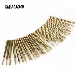 3mm Dremel Zubehör Dremel Drehhilfsmittel-30PCS/Set Titan-Überzogene Legierung reibend Haupt für Form-Reparatur-Schlitz-Stich