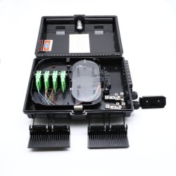 Plástico fábrica PC+ABS Nap 2/4/8/16/24/32/48 Portas/Núcleos de Fibra Óptica Caixa de Distribuição Caixa FTTH para Outdoor