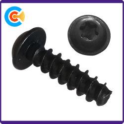Las placas de zinc de color negro M3*14 tornillos de rosca chapa con la arandela